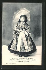 AK Paris, Exposition de l`Orphelinat des P. T. T. 1924, Les Costumes Savoyards, Helene de Valloire, Puppe