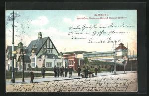 AK Hamburg-Barmbek, Vororts-Bahn Blankenese-Ohlsdorf, Bahnhof Barmbeck