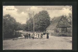 AK Hamburg-Volksdorf, Partie b. d. Friedenseiche