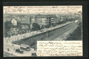 AK Hamburg-Rotherbaum, An der Verbindungsbahn mit Strassenbahn