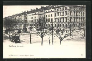 AK Hamburg-Neustadt, Esplanade mit Strassenbahn