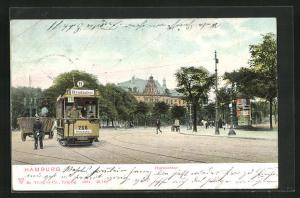 AK Hamburg-St. Pauli, Holsentor mit Strassenbahn