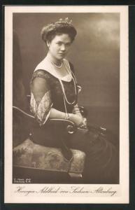 AK Herzogin Adelheid von Sachsen-Altenburg