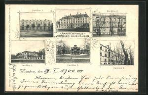 AK München-Haidhausen, Krankenhaus, Pavillon 1, Pavillon 2, Pavillon 3