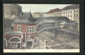 AK Berlin-Kreuzberg, Hochbahnhof Prinzenstrasse