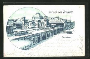 Lithographie Dresden, Hauptbahnhof