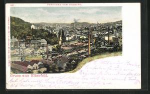 AK Elberfeld, Panorama vom Kiesberg