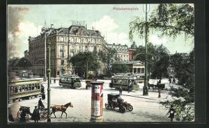 AK Berlin-Tiergarten, Potsdamerplatz mit Strassenbahn