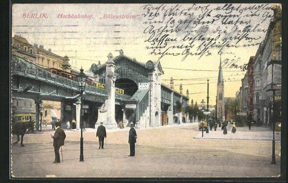 AK Berlin-Schöneberg, Hochbahnhof Bülowstrasse 0