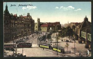 AK Berlin-Schöneberg, Nollendorf-Platz mit Strassenbahn