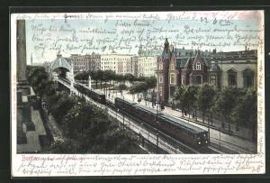 AK Berlin-Schöneberg, Hochbahnhof Nollendorfplatz