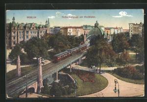 AK Berlin-Schöneberg, Nollendorfplatz mit Hochbahn