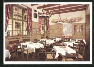 AK München, Hotel Rheinischer Hof, Teilansicht des Löwenbräu-stüberl