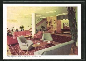 AK München, Hotel Mark, Empfangshalle, Senefelderstrasse 12