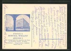 Künstler-AK München, Hotel Wolff, Arnulfstrasse 4