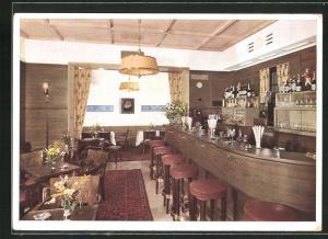 AK München, Hotel Rheinischer Hof, Ansicht der Rheinhof-Bar