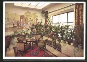 AK München, Hotel Excelsior, Wintergarten, Schützenstrasse 11