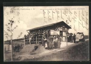 AK Oberkotzau i. B., Sommerwirtschaft in der Friedrichsanlage von Andreas Schultheiss