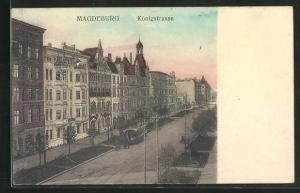 AK Magdeburg, Blick in die Königstrasse
