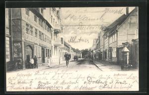 AK Salzwedel, Blick in die Breitestrasse