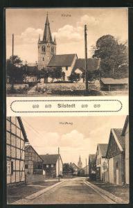 AK Silstedt, Holzweg und Kirche