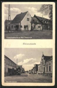 AK Kleinwusterwitz, Geschäftshaus Max Rawolle, Dorfstrasse