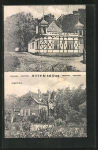 AK Brehm / Burg, Restaurant & Café Heinrich Hübig, Jägerhaus