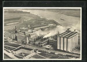 AK Barby a. Elbe, Deutsche Maizena Werke, Maisstärkefabrik
