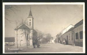 AK Rudersdorf, Strassenpartie an der Kirche
