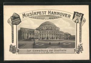 AK Hannover, Musikfest, Einweihung der Stadthalle 1914