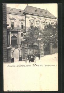 AK Wien, Deutsches Botschafts-Palais, Metternichgasse 3
