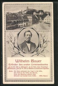 AK Dillingen, Wilhelm Bauer, Erfinder des ersten Unterseebootes