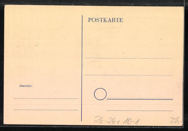 Künstler-AK Handgemalt: Trümmer schreien Frieden - 4. Dez. 1943, DDR-Propaganda 1