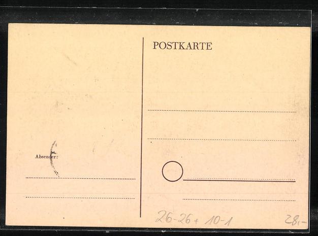 Künstler-AK Handgemalt: Woche de Friedens 1948, DDR-Propaganda 1