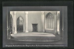 AK Bayreuth, Meistersinger, 1. Aufzug, Kirche, Dekoration