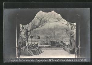 AK Bayreuth, Meistersinger Dekoration, 4. Aufzug, Festwiese