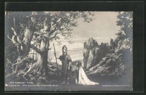 AK Bayreuth, The Valkyrie, Act III., Brünnhilde zu seinen Füssen