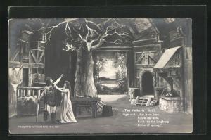 AK Bayreuth, The Valkyrie, Act I., Sigmund in Haus mit Baum