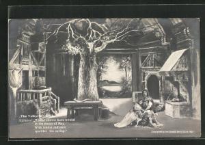 AK Bayreuth, The Valkyrie, Act I., Sigmund hält Frau im Arm
