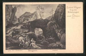 AK Bayreuth, Ring der Nibelungen, Bergjoch, Gebirgslandschaft, Richard Wagner