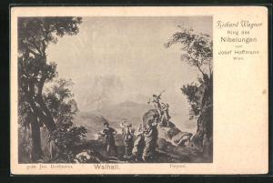 AK Bayreuth, Ring der Nibelungen, Walhall, Richard Wagner