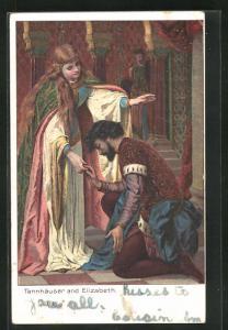 AK Tannhäuser kniet vor Elizabeth