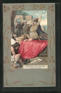 AK Tristan and Isolde, Death of Tristan, Jugendstil