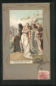 AK Tristan and Isolde, The landing of Isolde, Jugendstil