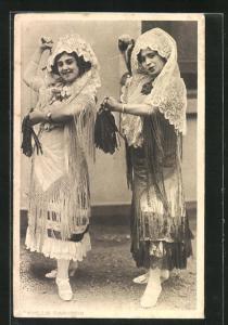 AK Seville Dancers, Frauen aus Sevilla beim Volkstanz