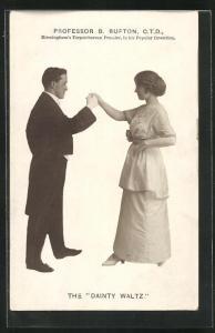 AK Tanz, Professor B. Bufton, Herr in Frack tanzt mit Dame, The Dainty Waltz