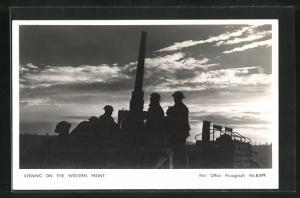 AK Evening on the Western Front, Britische Flak