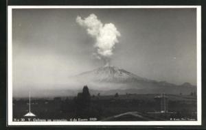 AK V. Calbuco en erupción, 6 de Enero 1929, Vulkanausbruch