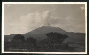 Foto-AK Vesuv, Totale des Vulkanes