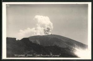 Foto-AK Vesuvius from the Vesuvius Railway, Vulkan